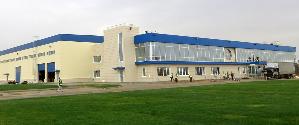 Construction of Schlumberger Base, Astrakhan