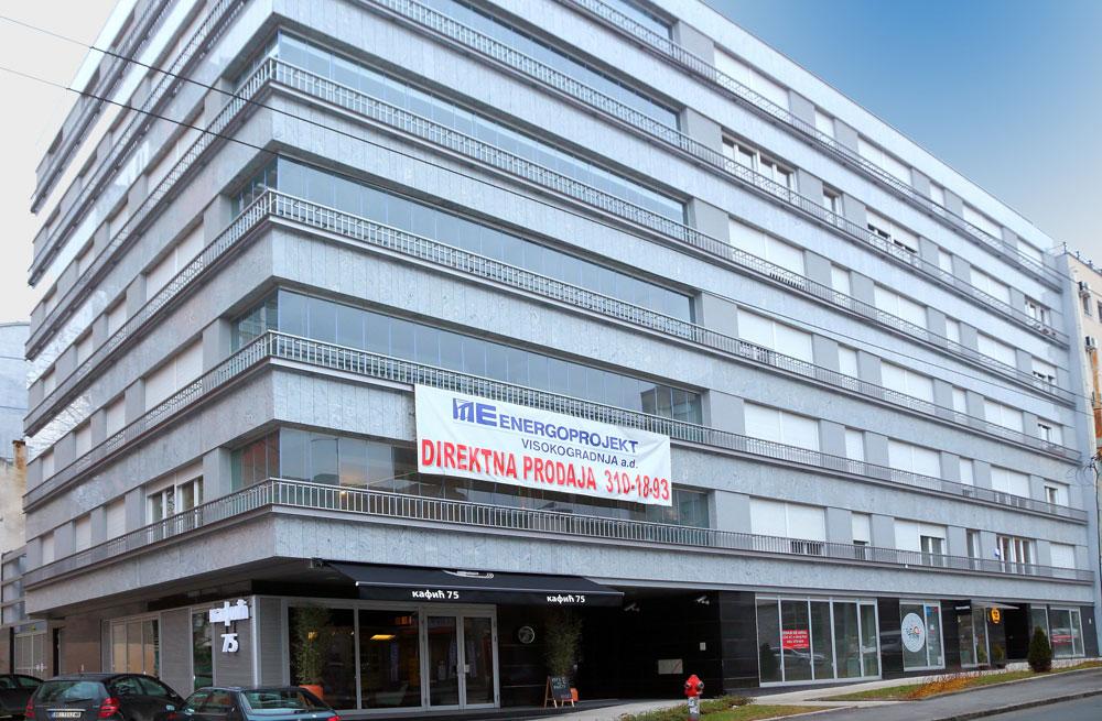 Commercial-residential building in 75-77 Cara Nikolaja II Street in Vracar Municipality